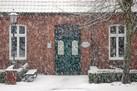 Bücherei im Schnee